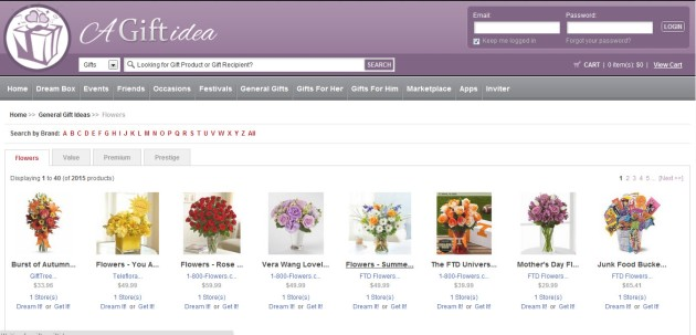 Check out Flowers at Agiftidea.com